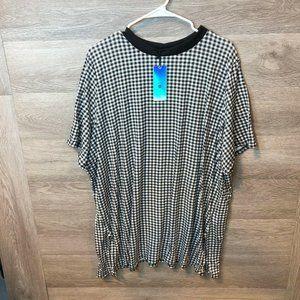 Daisy Street Women's 24 Black Check T-Shirt Dress